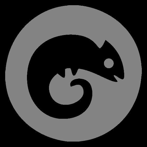 Condence_round_logo_icon_white_chameleon_grey_back