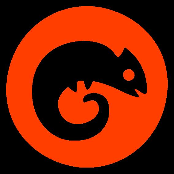 Condence_round_logo_icon_white_chameleon_orange_back